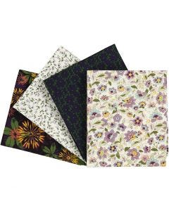 Patchwork Fabric, size 45x55 cm, 100 g, purple, 4 pc/ 1 pack