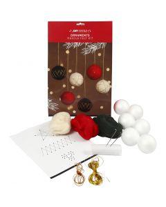 Christmas baubles, D: 6 cm, 6 pc/ 1 pack