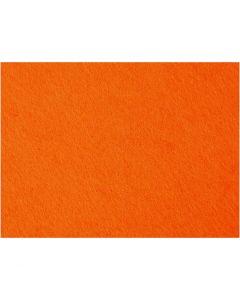 Craft Felt, 42x60 cm, thickness 3 mm, orange, 1 sheet