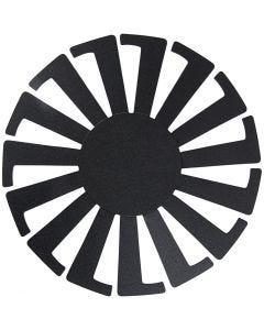Basket Weaving Template, H: 6 cm, D: 8 cm, black, 10 pc/ 1 pack