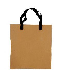 Shopping bag, size 35x38 cm, light brown, 1 pc