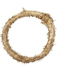 Straw Wreath, D: 21 cm, thickness 2 cm, 1 pc