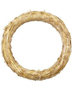 Straw Wreath, D: 27 cm, thickness 3 cm, 1 pc