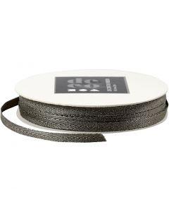 Decorative Ribbon, W: 5 mm, silver, 20 m/ 1 roll