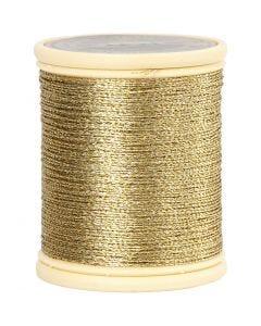 DMC Metallic Thread, thickness 0,36 mm, gold, 40 m/ 1 roll