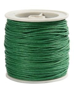 Cotton Cord, thickness 1 mm, green, 40 m/ 1 roll