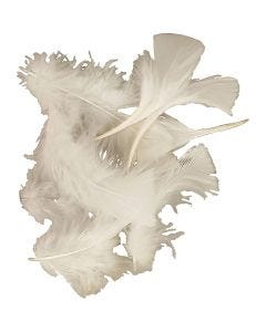 Feathers, size 7-8 cm, white, 500 g/ 1 pack
