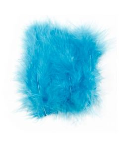 Feathers, size 5-12 cm, turquoise, 15 pc/ 1 pack