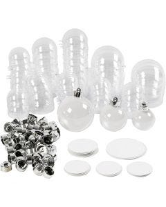 Baubles to Decorate, D: 5+6+8 cm, 60 pc/ 1 pack
