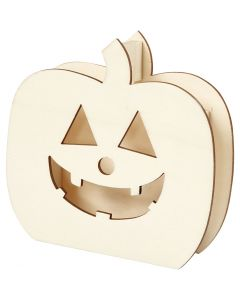 Skull, Pumpkin head, H: 13 cm, depth 3 cm, W: 13,5 cm, 1 pc