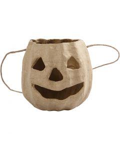 Pumpkin head basket, H: 8,5 cm, D: 9 cm, 1 pc