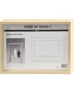 Double Frame, depth 4,5 cm, size 22,1x30,8 cm, 1 pc
