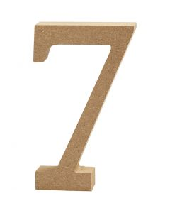 Number, 7, H: 13 cm, thickness 2 cm, 1 pc