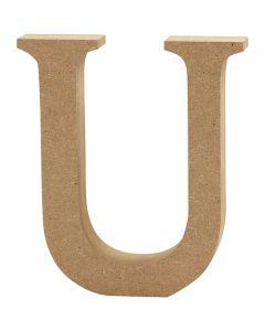Letter, U, H: 8 cm, thickness 1,5 cm, 1 pc