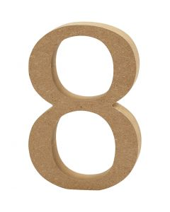 Number, 8, thickness 1,5 cm, 1 pc