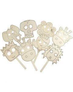 Masks, L: 35 cm, W: 22 cm, thickness 2 mm, 16 pc/ 1 pack