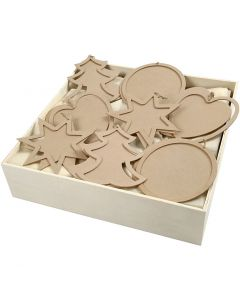 Christmas Frames, size 14x14 cm, thickness 4 mm, 4x20 pc/ 1 pack