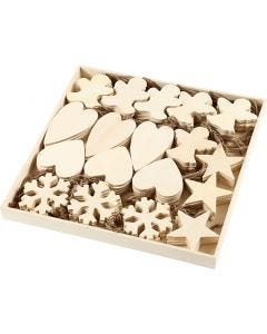 Christmas Ornaments, size 9-11 cm, thickness 4 mm, 90 pc/ 1 pack