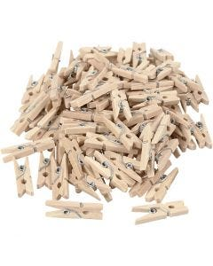 Clothes Pegs, L: 25 mm, W: 3 mm, 100 pc/ 1 pack