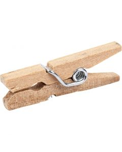 Clothes Pegs, L: 25 mm, W: 3 mm, 30 pc/ 1 pack