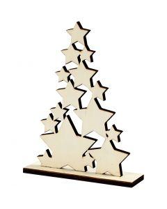 Christmas Tree, H: 19,6 cm, depth 4 cm, W: 14,7 cm, 1 pc