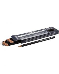 Art Design Drawing Pencils, D: 6,9 mm, hardness 5B, lead 1,8 mm, 12 pc/ 1 pack