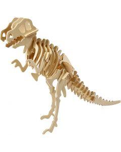 3D Wooden Construction Kit, dinosaur, size 33x8x23 cm, 1 pc