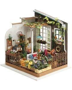 DIY Miniature Room, Garden, H: 21 cm, W: 19,5 cm, 1 pc