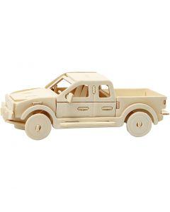 3D Construction figure, Pick-up truck, size 19,5x8x12 cm, 1 pc