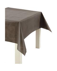 Imitation Fabric Table Cloth, W: 125 cm, 70 g, brown, 10 m/ 1 roll