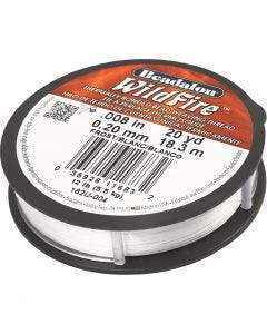 Jewellery Wire, thickness 0,2 mm, white, 18,3 m/ 1 roll