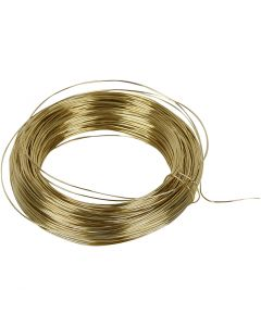 Brass Wire, thickness 0,6 mm, brass, 50 m/ 1 roll