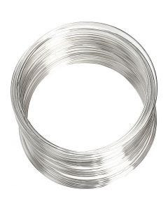 Memory Wire, D: 6 cm, thickness 0,8 mm, silver-plated, 1 pc