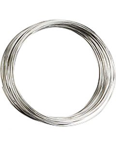 Memory Wire, D: 5 cm, thickness 0,7 mm, silver-plated, 1 pc