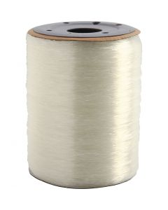 Elastic Beading Cord, round, thickness 0,8 mm, 1000 m/ 1 roll