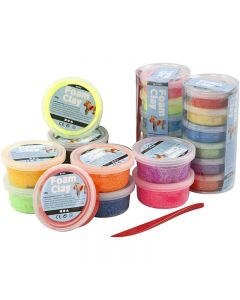 Foam Clay®, assorted colours, 22 tub/ 1 set