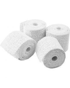 Plaster Bandage, L: 2,7 m, W: 5 cm, 4 roll/ 1 pack