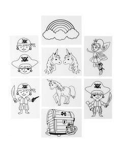 Shrink Plastic Sheets with motives, 10,5x14,5 cm, 36 sheet/ 1 pack
