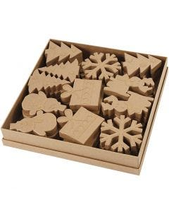Christmas Shapes, H: 10-14 cm, 6x6 pc/ 1 pack