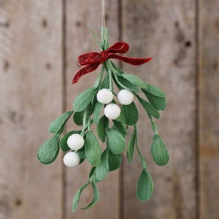 Crepe paper mistletoe