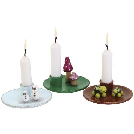 Charming candlesticks with mini figures