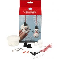 Funny snowmen, 1 set