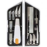 Knife, Chisel and Saw Set, L: 15 cm, W: 3 cm, 1 set
