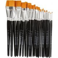 Gold Line Brushes, flat, no. 0+2+4+8+12+16+20, W: 2-24 mm, 30 pc/ 1 pack
