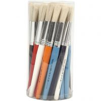 Kids Paint Brushes, round, L: 19 cm, W: 15 mm, 30 pc/ 1 pack