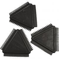 Rubber Texture Combs, size 9 cm, 3 pc/ 1 pack