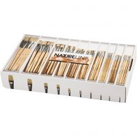 Nature Line Brushes, no. 00, 0, 1, 2, 4, 8, 12, 14, 20, 22, W: 3-22 mm, short handles, 120 pc/ 1 pack