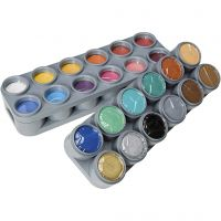 Water-based Face Paint Palette, assorted colours, 24x15 ml/ 1 pack