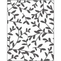 Embossing Folder, sprouts, size 11x14 cm, thickness 2 mm, 1 pc