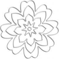 Die Cut, flower, D: 0,5-8 cm, 1 pc